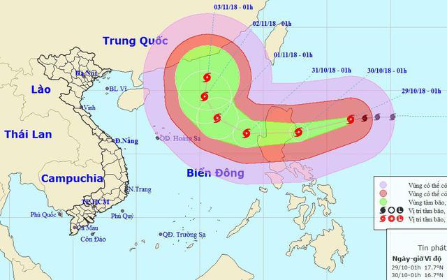 Tin tức mới nhất siêu bão YUTU giật cấp 17 đang di chuyển nhanh vào Biển Đông - Ảnh 1