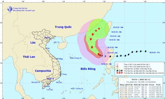 Tin bão mới nhất ngày 31/10: Cơn bão số 7 giật cấp 13 quần thảo dữ dội trên Biển Đông - Ảnh 1
