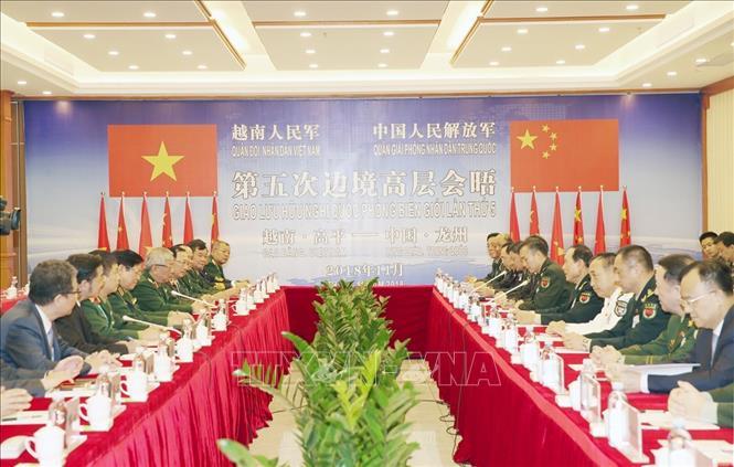 Đại tướng Ngô Xuân Lịch hội đàm với Thượng tướng Ngụy Phượng Hòa - Ảnh 1