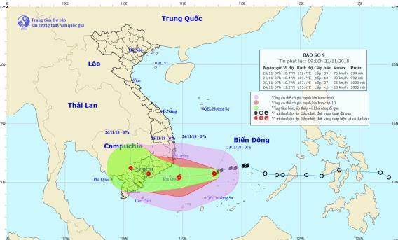 Tin tức mới nhất cơn bão số 9: Bão tăng cấp, áp sát đất liền Nam Trung Bộ - Ảnh 1