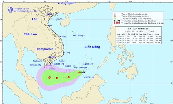 Xuất hiện vùng áp thấp mới có khả năng mạnh thêm trên Biển Đông - Ảnh 1