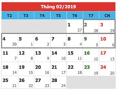 Sẽ trình Chính phủ phương án nghỉ Tết nguyên đán 2019 trong 9 ngày - Ảnh 1