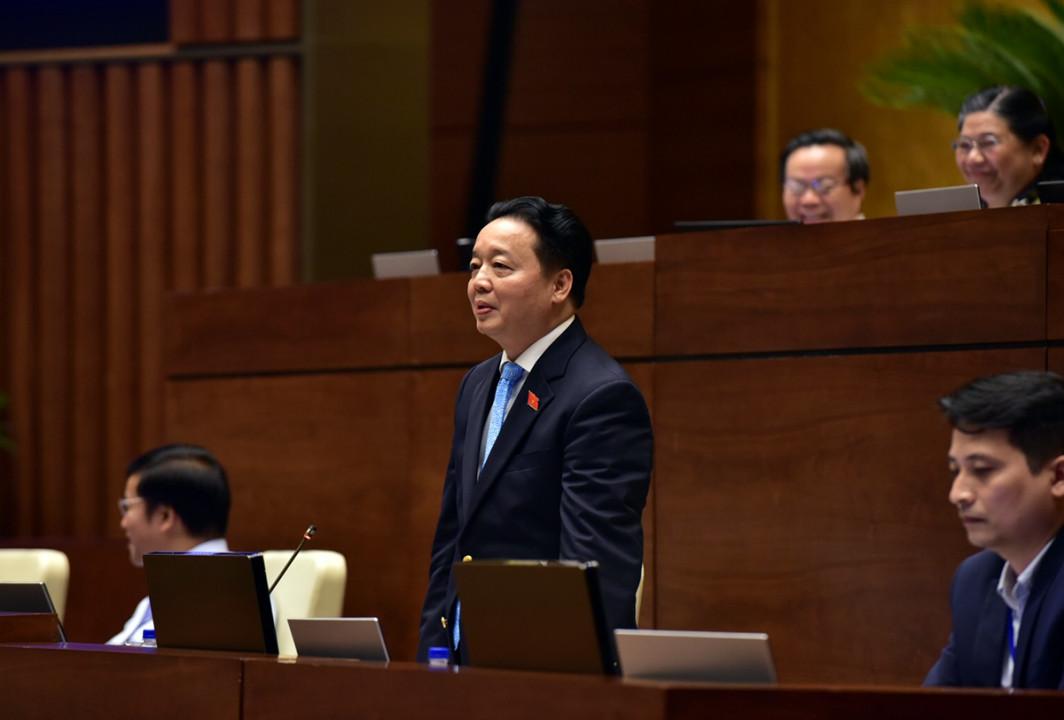TOÀN CẢNH: Bộ trưởng Bộ TN&MT Trần Hồng Hà trả lời chất vấn - Ảnh 3
