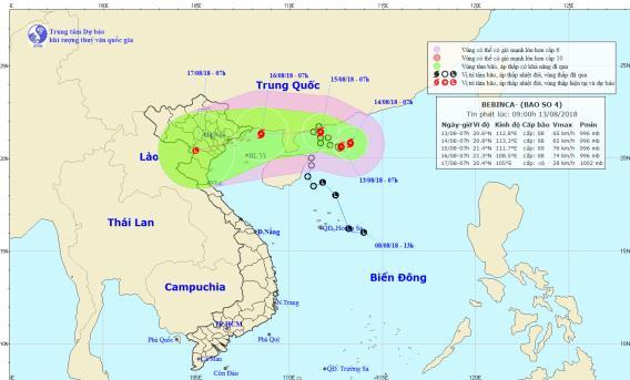 Bão số 4 giật cấp 8 vừa hình thành trên Biển Đông, miền Bắc chuẩn bị mưa dài ngày - Ảnh 1