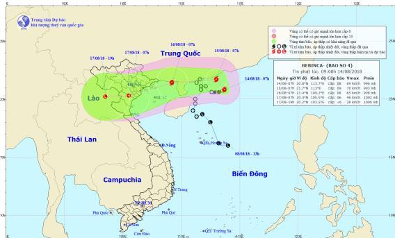 Bão số 4 giật cấp 10, dự kiến đổ bộ Quảng Ninh-Nam Định vào ngày 16/8 - Ảnh 2