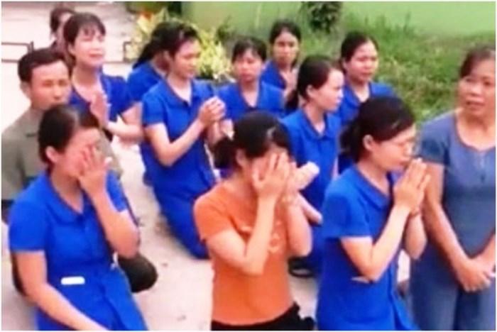 Vụ cô giáo mầm non quỳ gối ở Nghệ An: Kỷ luật 5 cán bộ - Ảnh 1