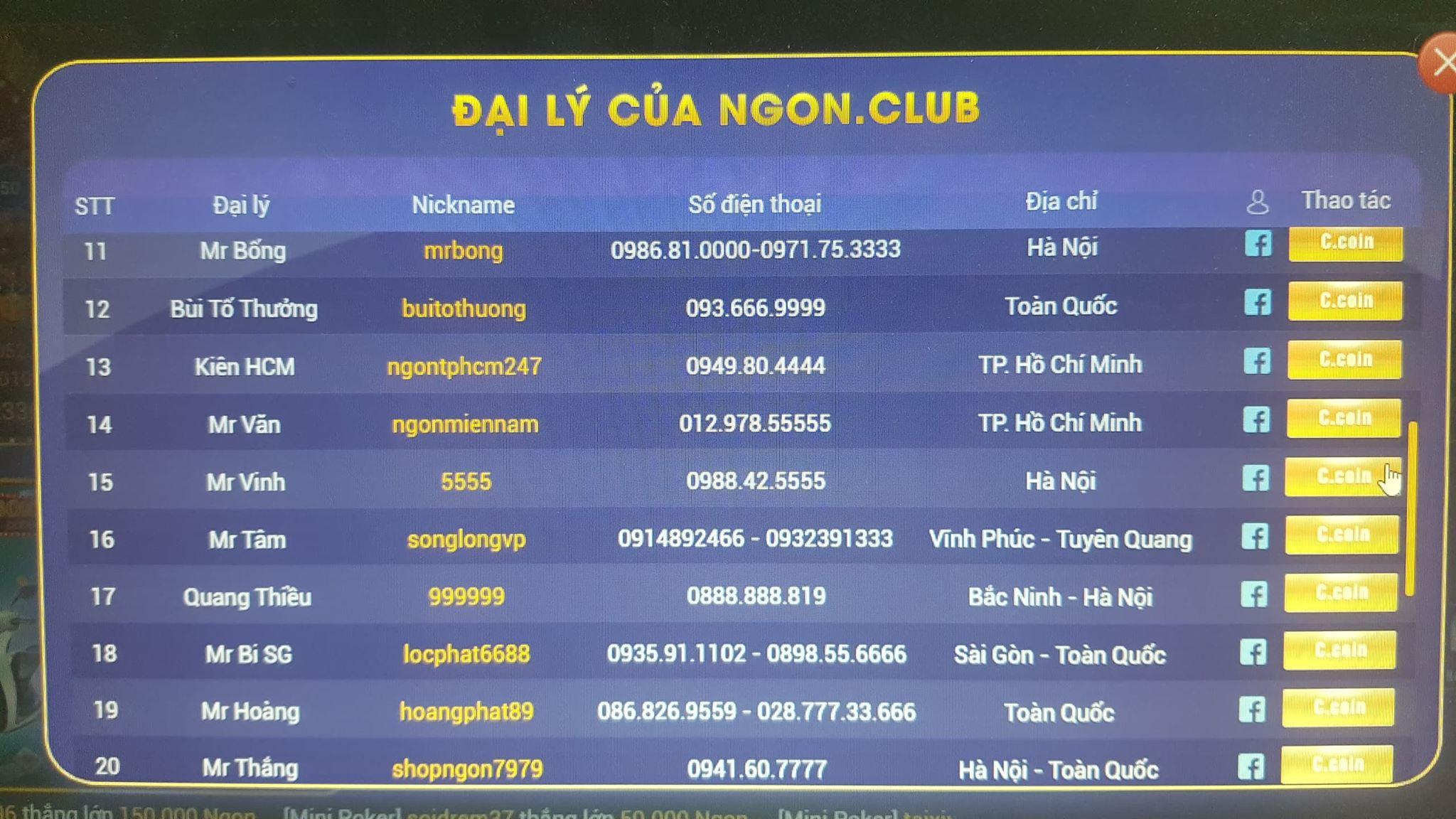 """""""Sới bạc"""" online núp bóng cổng game Ngon.Club hoạt động công khai thách thức pháp luật - Ảnh 4"""