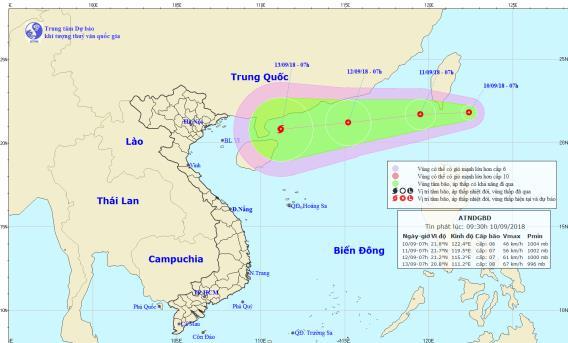 Áp thấp nhiệt đới, siêu bão đang hướng vào Biển Đông - Ảnh 1