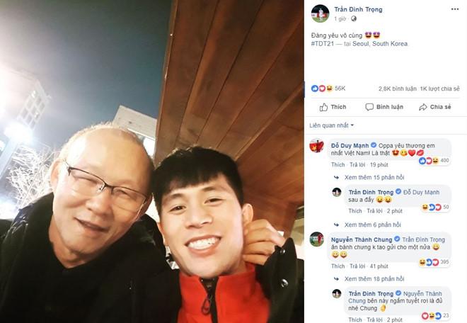 """HLV Park Hang-seo thăm """"trò cưng"""" Đình Trọng ở Hàn Quốc - Ảnh 1"""