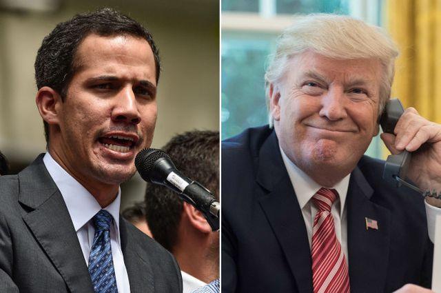 Tổng thống Trump điện đàm với thủ lĩnh tự phong Venezuela Juan Guaido - Ảnh 1