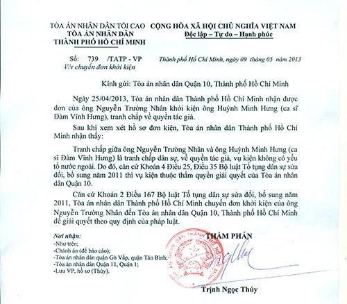 Nhạc sĩ kiện ca sĩ Đàm Vĩnh Hưng, đòi bồi thường 200 triệu đồng - Ảnh 1