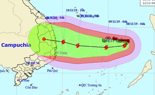 Tin tức dự báo thời tiết mới nhất hôm nay 9/11/2019: Bão số 6 giật cấp 15 áp sát Quảng Ngãi- Khánh Hòa - Ảnh 1