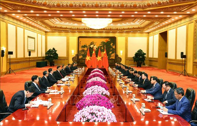 Thủ tướng Nguyễn Xuân Phúc hội kiến Tổng Bí thư, Chủ tịch Trung Quốc Tập Cận Bình - Ảnh 3