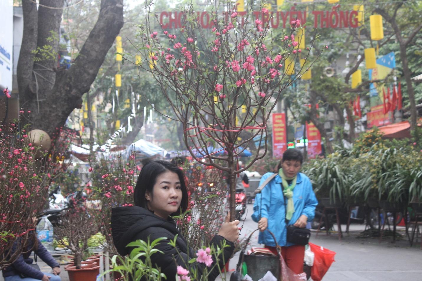 Người dân nô nức ghé thăm phiên chợ hoa Tết lâu đời nhất Hà Nội trong ngày rét ngọt  - Ảnh 5