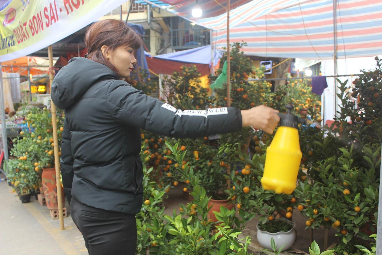 Người dân nô nức ghé thăm phiên chợ hoa Tết lâu đời nhất Hà Nội trong ngày rét ngọt  - Ảnh 14