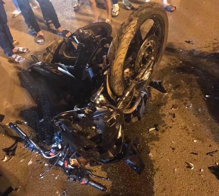 Va chạm xe máy kinh hoàng ở Vĩnh Phúc, 3 thanh niên tử vong - Ảnh 1