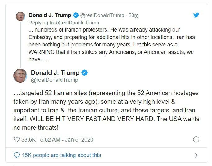 """Iran xác định 35 """"mục tiêu quan trọng"""" của Mỹ trong tầm ngắm trả thù - Ảnh 1"""