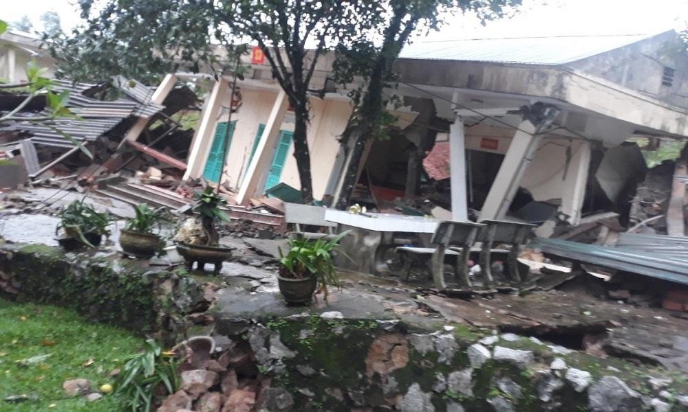 Hiện trường vụ sạt lở núi, đổ sập trụ sở Đồn Biên phòng cửa khẩu Cha Lo - Ảnh 5
