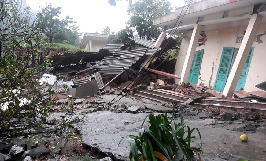 Hiện trường vụ sạt lở núi, đổ sập trụ sở Đồn Biên phòng cửa khẩu Cha Lo - Ảnh 8