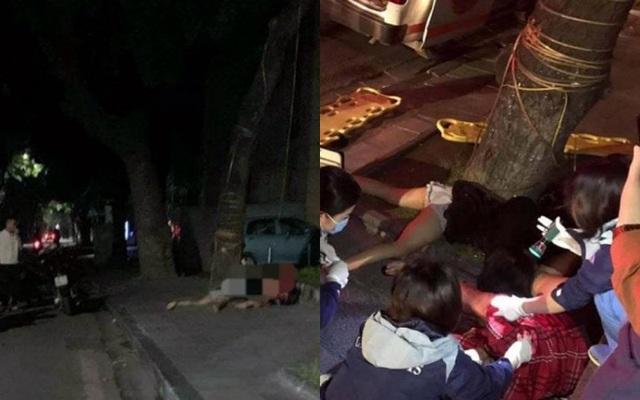 Hà Nội: Xe máy chạy tốc độ cao đâm thẳng vào gốc cây, 2 cô gái trẻ thương vong - Ảnh 1