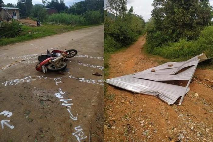 Gió cơn bão số 9 hất tấm tôn bay trúng người đi đường tử vong tại chỗ - Ảnh 1
