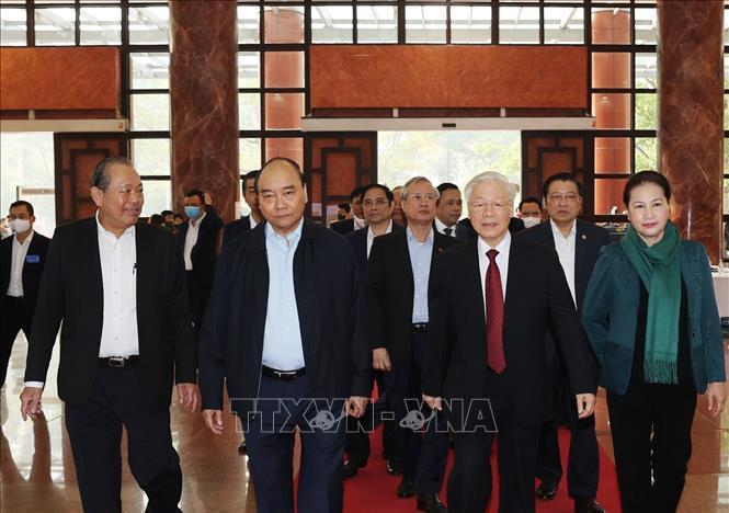 Tổng Bí thư, Chủ tịch nước Nguyễn Phú Trọng chủ trì Hội nghị toàn quốc tổng kết công tác phòng, chống tham nhũng giai đoạn 2013-2020 - Ảnh 2
