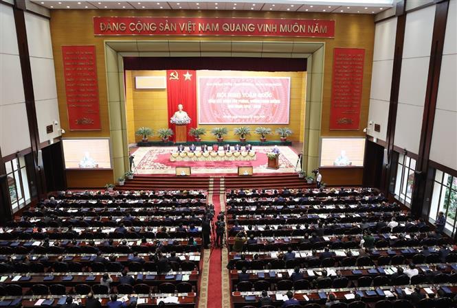 Tổng Bí thư, Chủ tịch nước Nguyễn Phú Trọng chủ trì Hội nghị toàn quốc tổng kết công tác phòng, chống tham nhũng giai đoạn 2013-2020 - Ảnh 4