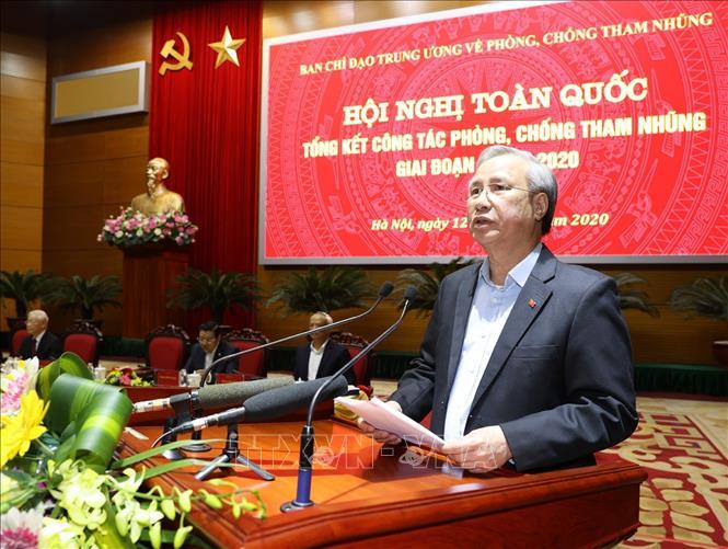 Tổng Bí thư, Chủ tịch nước Nguyễn Phú Trọng chủ trì Hội nghị toàn quốc tổng kết công tác phòng, chống tham nhũng giai đoạn 2013-2020 - Ảnh 5
