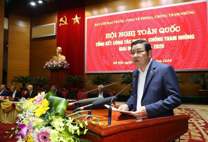 Tổng Bí thư, Chủ tịch nước Nguyễn Phú Trọng chủ trì Hội nghị toàn quốc tổng kết công tác phòng, chống tham nhũng giai đoạn 2013-2020 - Ảnh 6