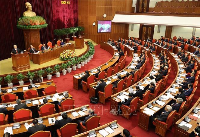 Hội nghị Trung ương 14 giới thiệu nhân sự tham gia Bộ Chính trị, Ban Bí thư khóa XIII - Ảnh 1