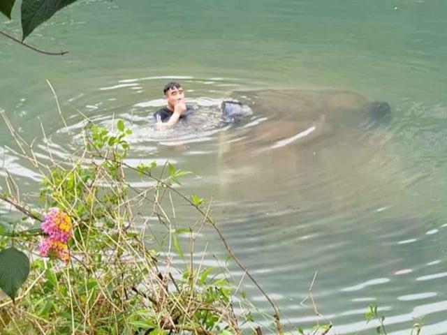 Ô tô 4 chỗ bất ngờ lao xuống sông, nữ tài xế tử vong trên ghế lái - Ảnh 1
