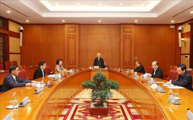 Tổng Bí thư, Chủ tịch nước chủ trì họp Tiểu ban Nhân sự Đại hội XIII của Đảng - Ảnh 2