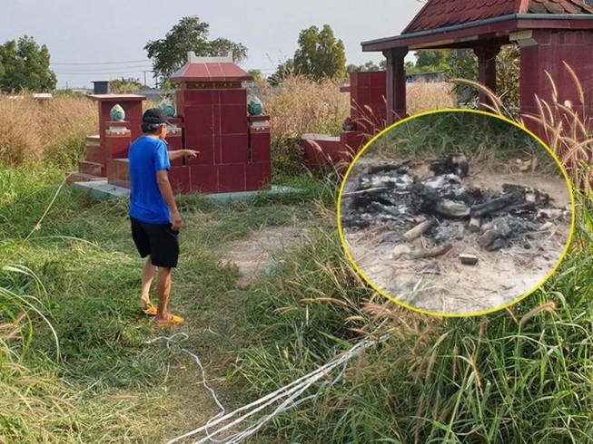Vụ bộ xương người bị đốt ở nghĩa trang tại Củ Chi: Nạn nhân là đàn ông - Ảnh 1