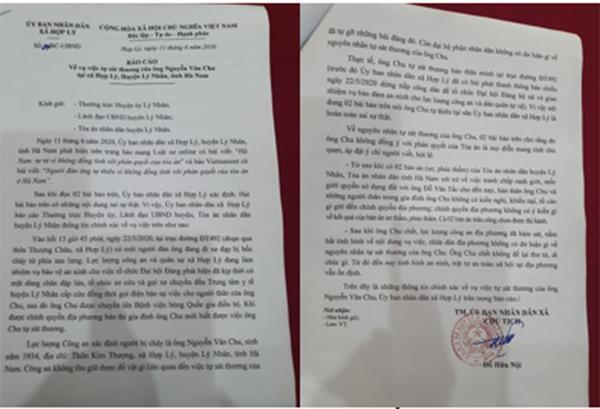 Thông tin ông lão tự thiêu để phản đối bản án của tòa ở Hà Nam là sai sự thật - Ảnh 1