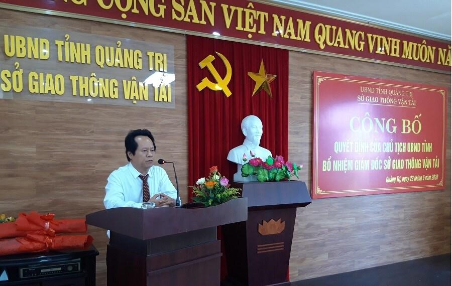 Tân Giám đốc sở GTVT Quảng Trị là ai? - Ảnh 1