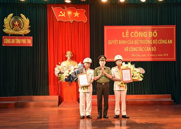2 Phó Giám đốc Công an tỉnh Phú Thọ vừa được bổ nhiệm là ai? - Ảnh 1