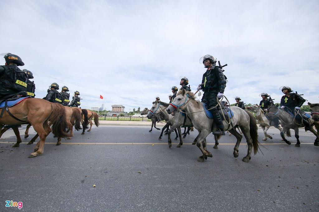 Chùm ảnh bộ Công an ra mắt lực lượng Cảnh sát cơ động Kỵ binh - Ảnh 8