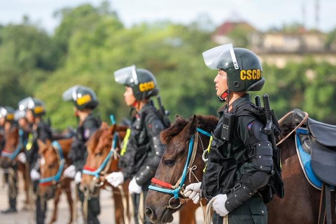 Chùm ảnh bộ Công an ra mắt lực lượng Cảnh sát cơ động Kỵ binh - Ảnh 11