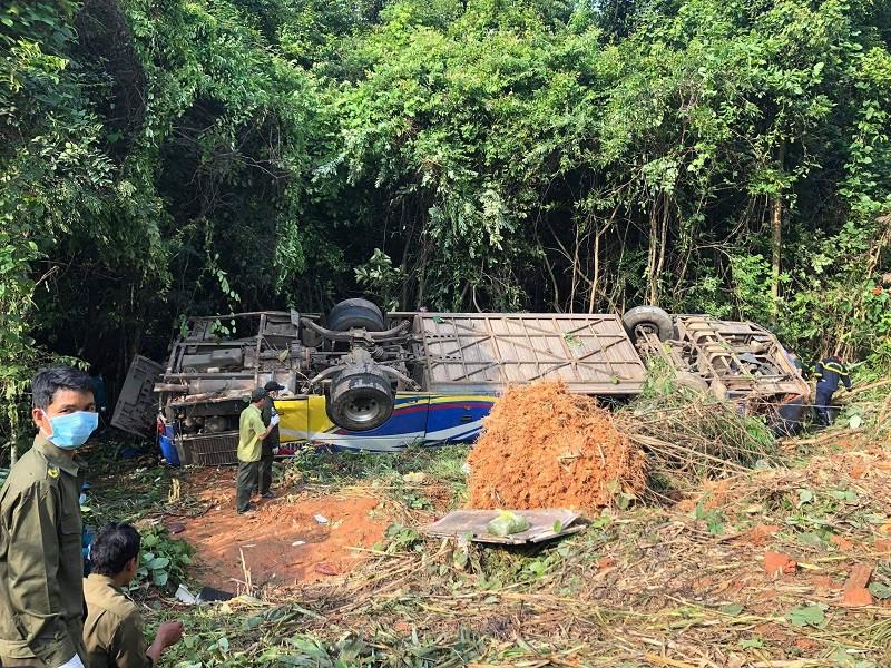 Vụ tai nạn 5 người chết ở Kon Tum: Tài xế thừa nhận xe mất lái - Ảnh 1