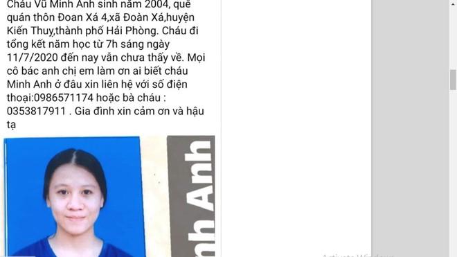 """Vụ nữ sinh 16 tuổi ở Hải Phòng """"mất tích"""": Tìm thấy tại tiệm làm tóc ở Hà Nội - Ảnh 1"""