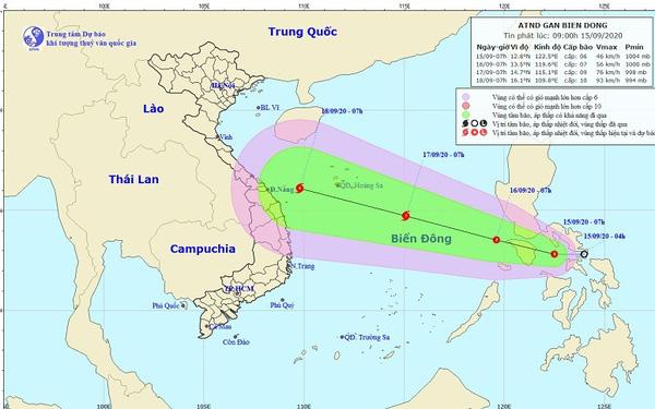Tin tức dự báo thời tiết mới nhất hôm nay 16/9/2020: Áp thấp nhiệt đới vào biển Đông, có khả năng mạnh thành bão - Ảnh 1