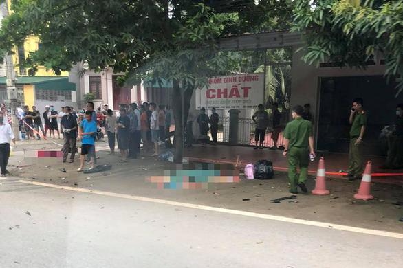 Hiện trường vụ tai nạn thương tâm khiến 3 cô gái trẻ tử vong ở Phú Thọ. Ảnh: Tuổi Trẻ