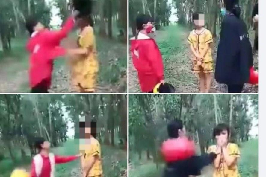 Nguyên nhân vụ 3 nữ sinh dùng mũ bảo hiểm đánh nữ sinh lớp 6, mặc nạn nhân van xin - Ảnh 1