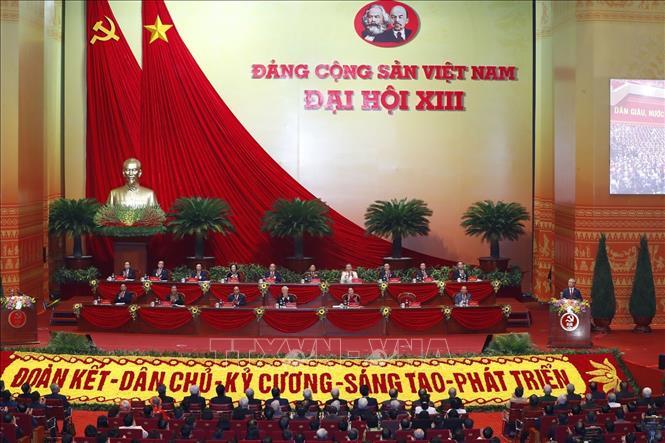 Khai mạc trọng thể Đại hội đại biểu toàn quốc lần thứ XIII Đảng Cộng sản Việt Nam - Ảnh 1