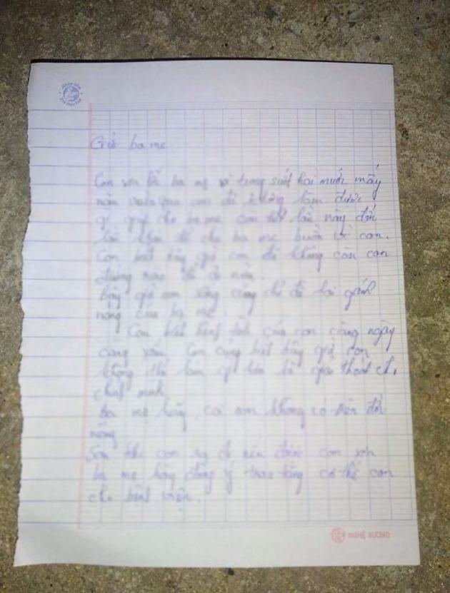 Nam thanh niên để lại 2 bức thư tuyệt mệnh cho mẹ và người yêu ở trên cầu - Ảnh 1