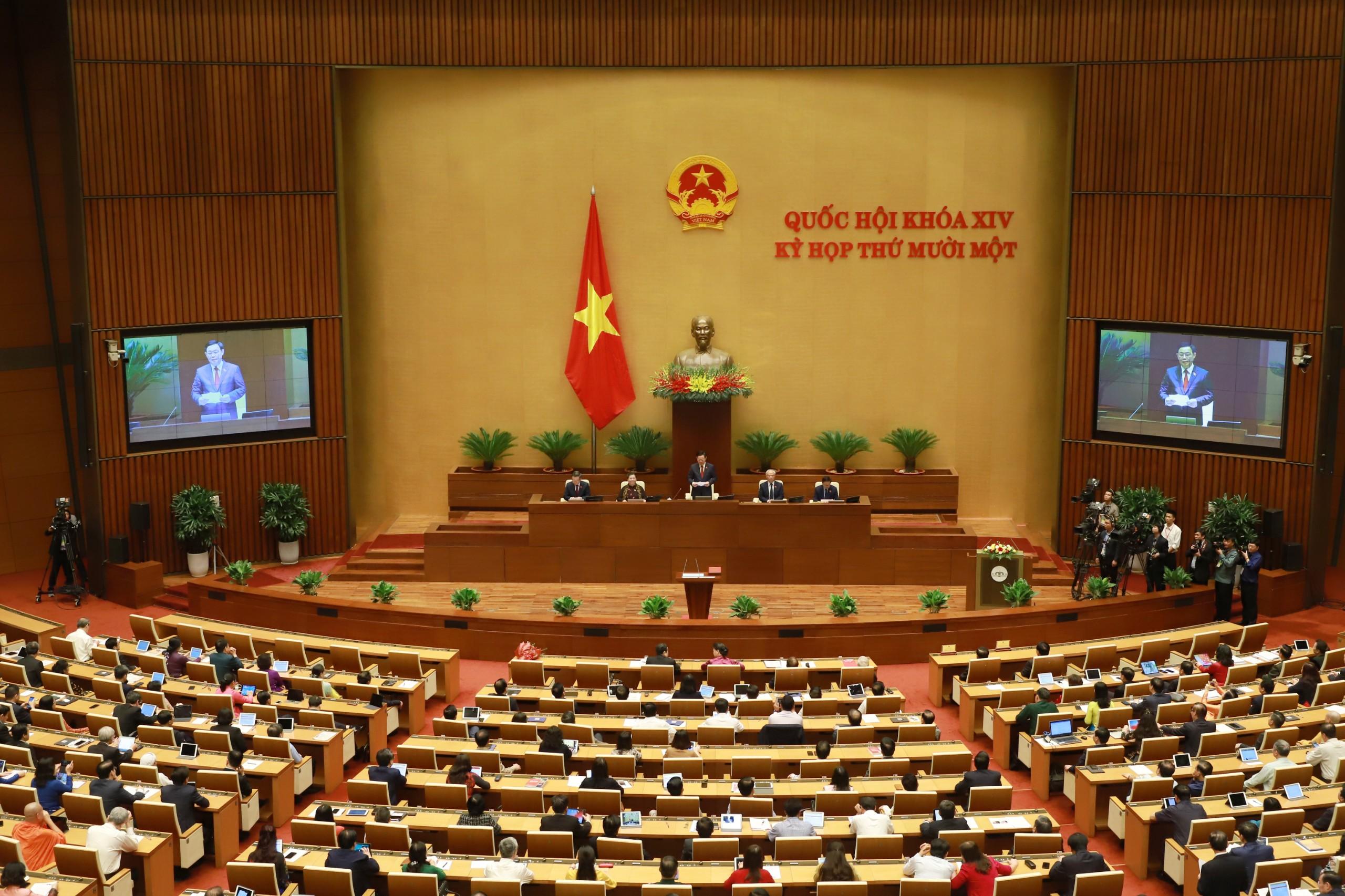 Chùm ảnh: Tân Chủ tịch Quốc hội tuyên thệ nhậm chức, điều hành phiên họp - Ảnh 8