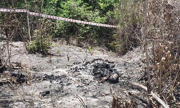 Công an Bình Thuận tìm thân nhân người bị đốt cháy chỉ còn xương ở đồi cát - Ảnh 1