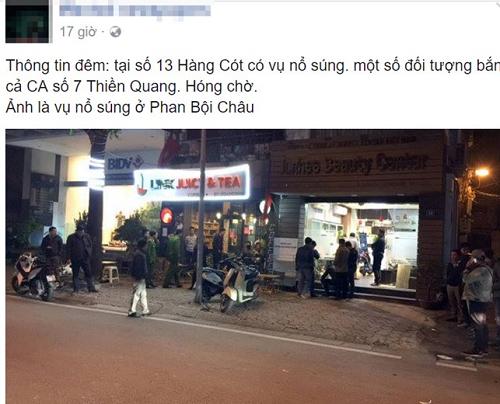 Bác tin cảnh sát hình sự bị bắn trên phố Hàng Cót - Ảnh 1