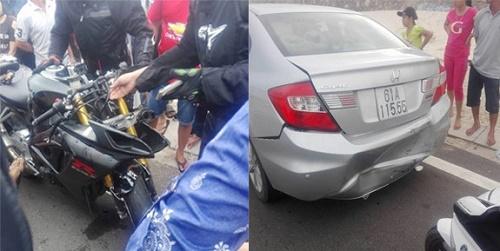 Đua môtô 'khủng' trái phép gây tai nạn ở Bình Thuận - Ảnh 2