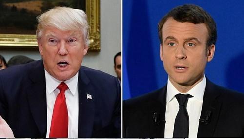 Ông Donald Trump điện đàm với Tổng thống đắc cử Pháp Emmanuel Macron - Ảnh 1